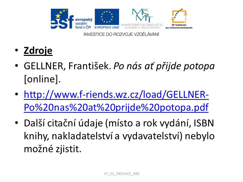 GELLNER, František. Po nás ať přijde potopa [online].